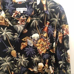 Pierre Cardin Shirts - Pierre Cardin Hawaiian button shirt tropical large